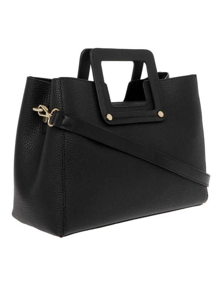 Hannah Top Handle Black Tote Bag image 2