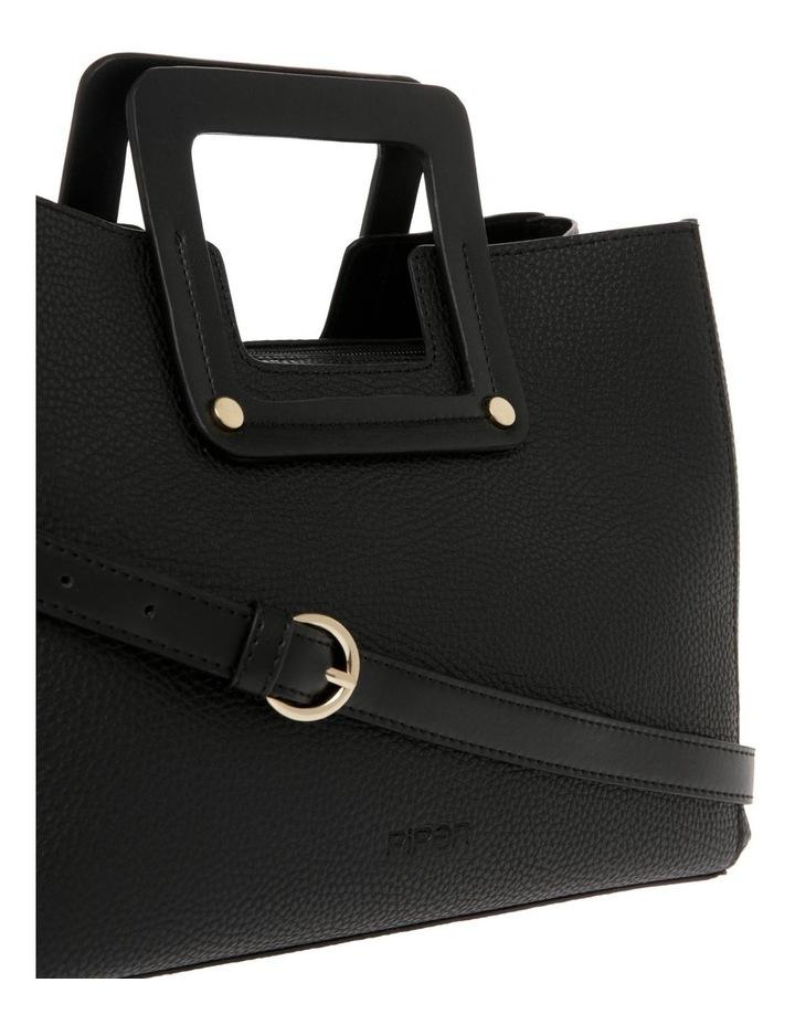 Hannah Top Handle Black Tote Bag image 3