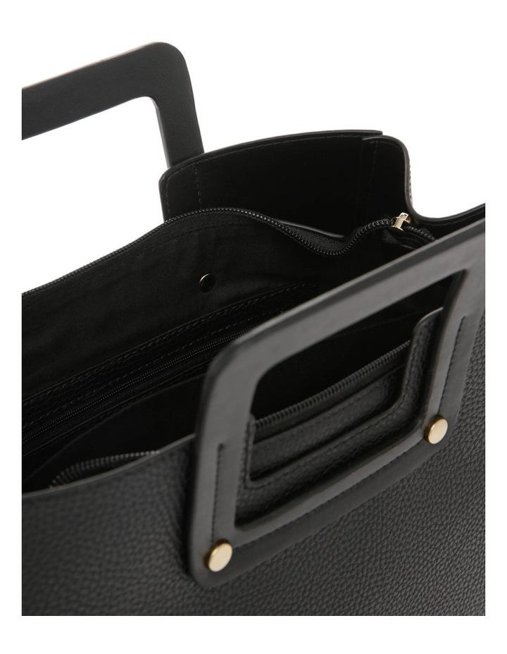 Hannah Top Handle Black Tote Bag image 4