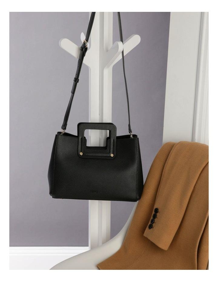 Hannah Top Handle Black Tote Bag image 5