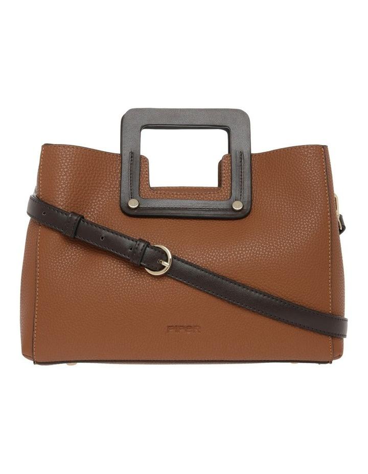 Hannah Top Handle Tan Tote Bag image 1