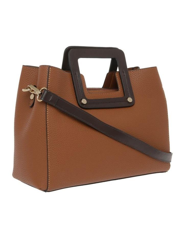 Hannah Top Handle Tan Tote Bag image 2