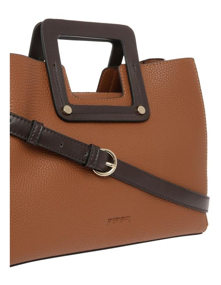 Hannah Top Handle Tan Tote Bag image 3