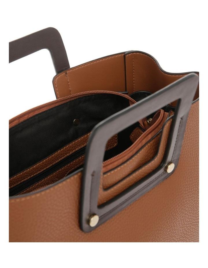 Hannah Top Handle Tan Tote Bag image 4