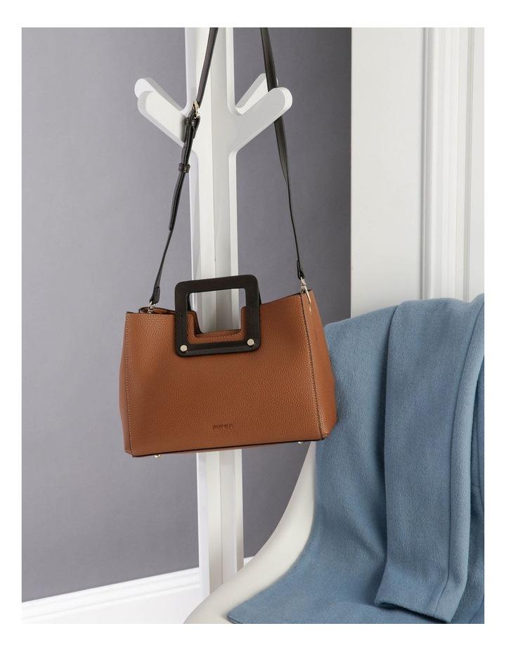 Hannah Top Handle Tan Tote Bag image 5