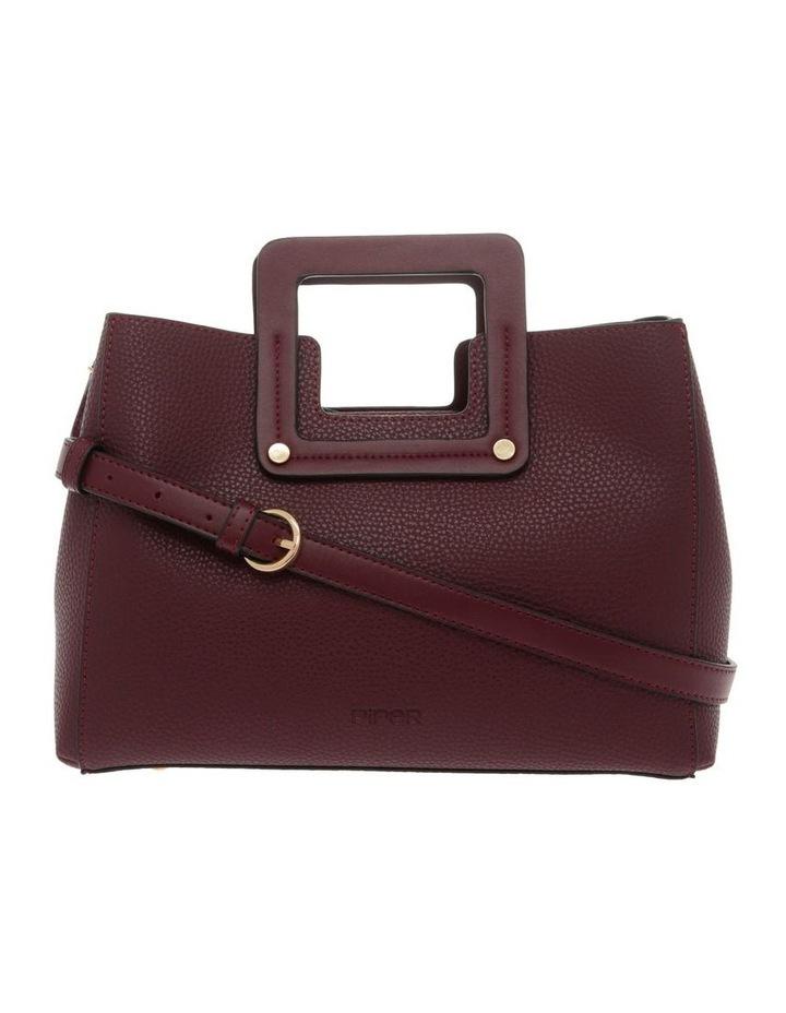 Hannah Top Handle Burgundy Tote Bag image 1