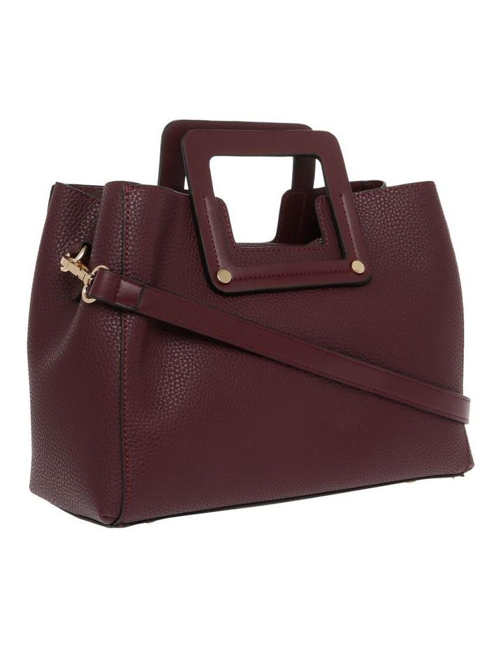 Hannah Top Handle Burgundy Tote Bag image 2