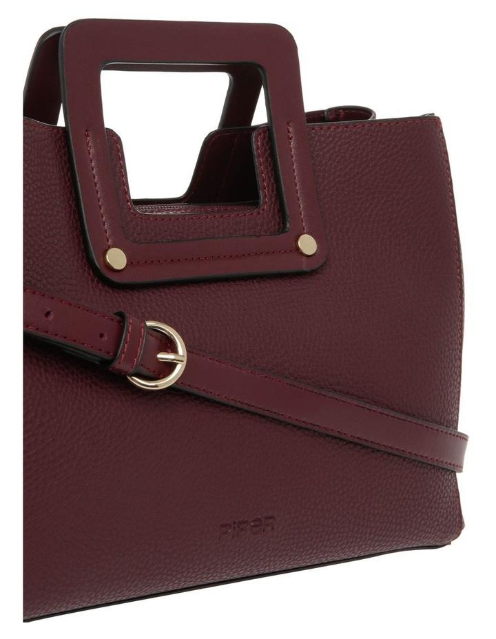 Hannah Top Handle Burgundy Tote Bag image 3