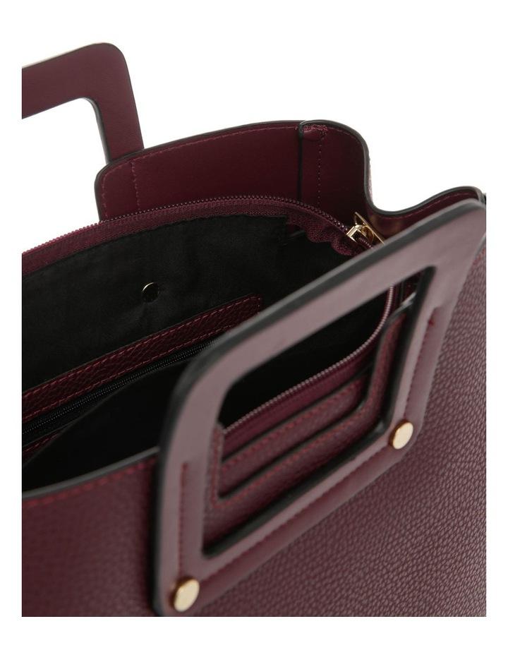 Hannah Top Handle Burgundy Tote Bag image 4