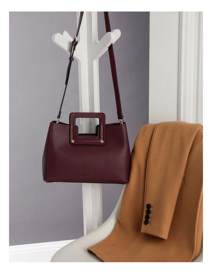 Hannah Top Handle Burgundy Tote Bag image 5