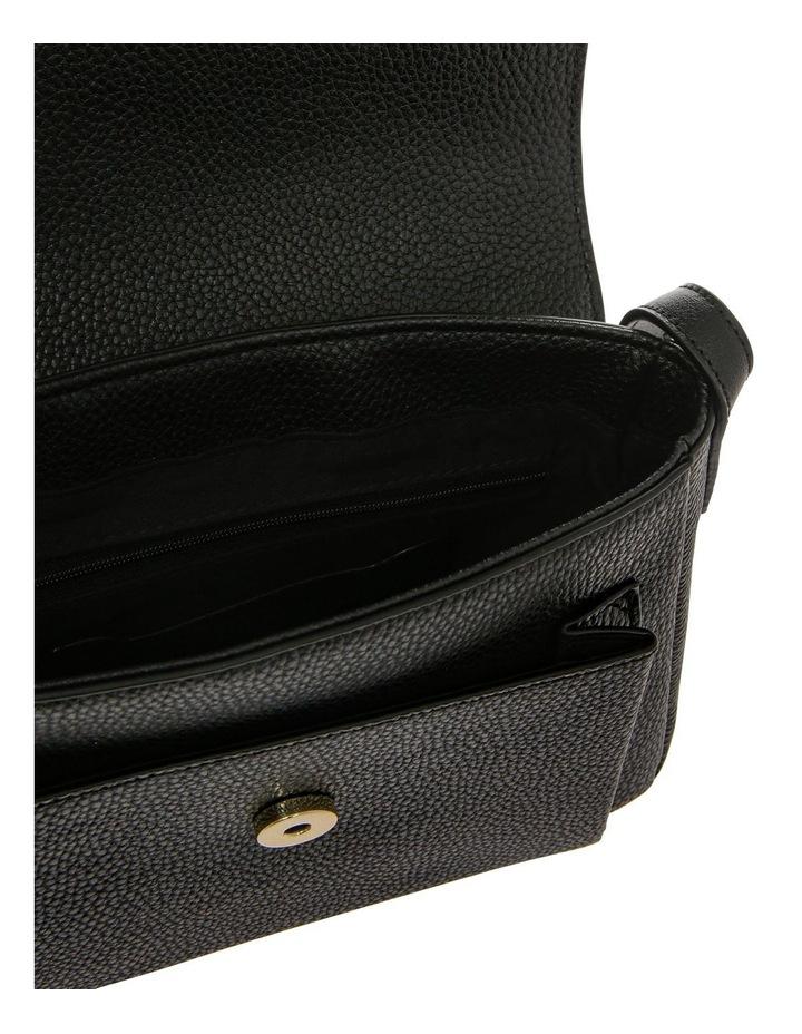 Ginny Flap Over Black Crossbody Bag image 4