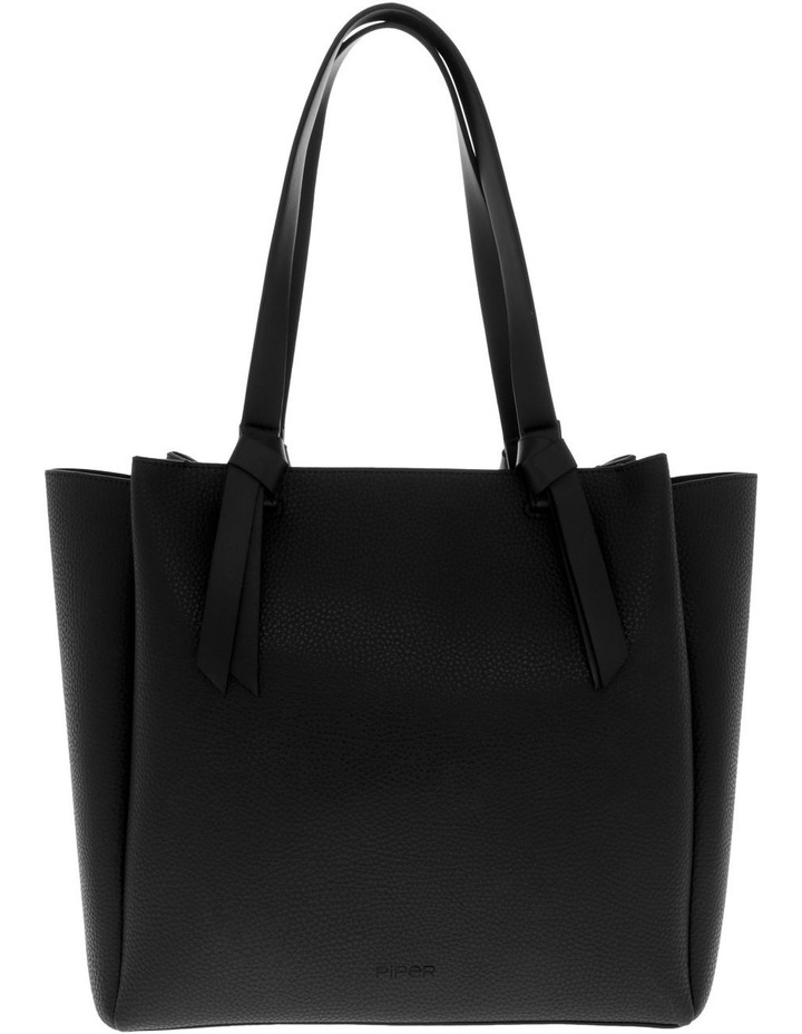 Christina Double-Handle Black Tote Bag image 1