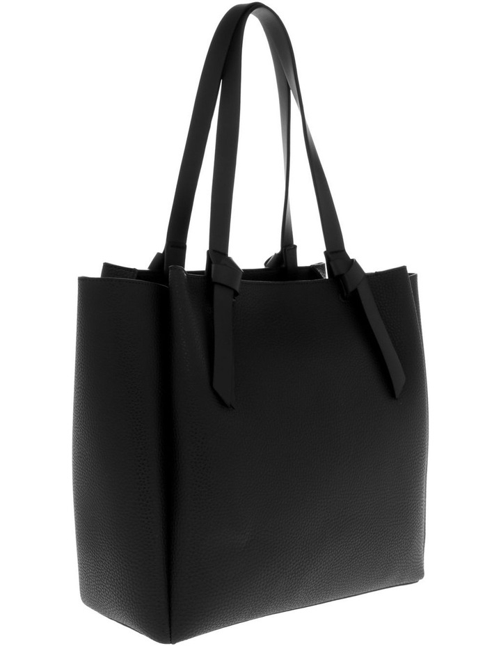 Christina Double-Handle Black Tote Bag image 2