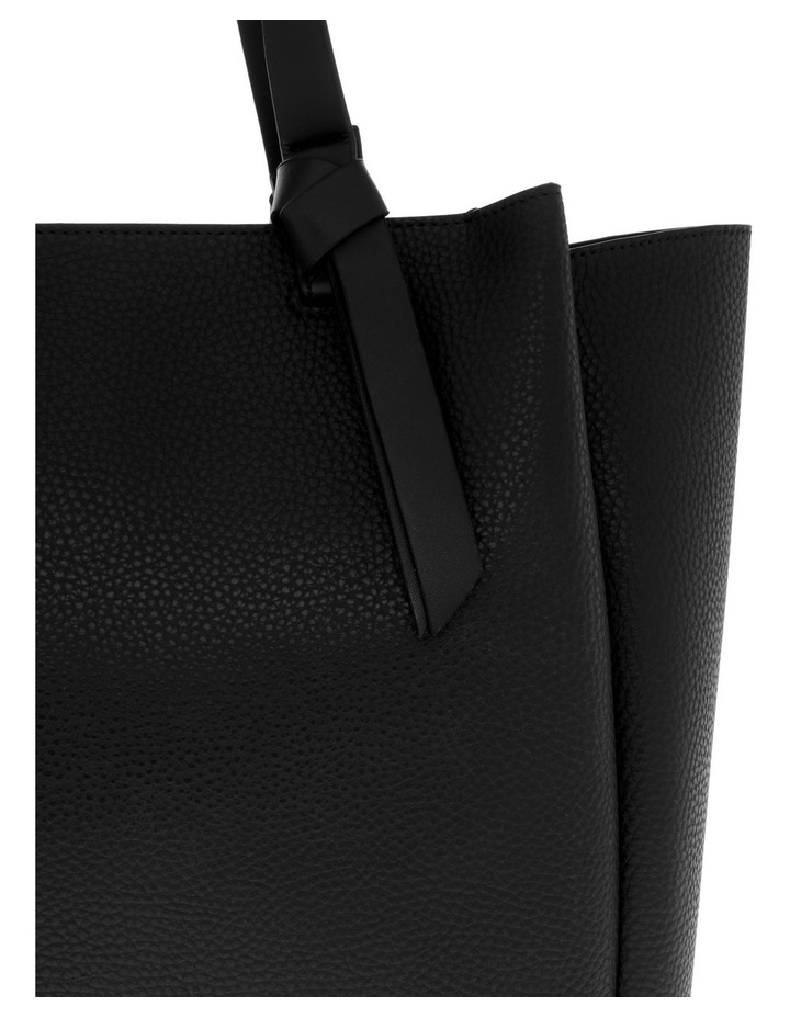 Christina Double-Handle Black Tote Bag image 3