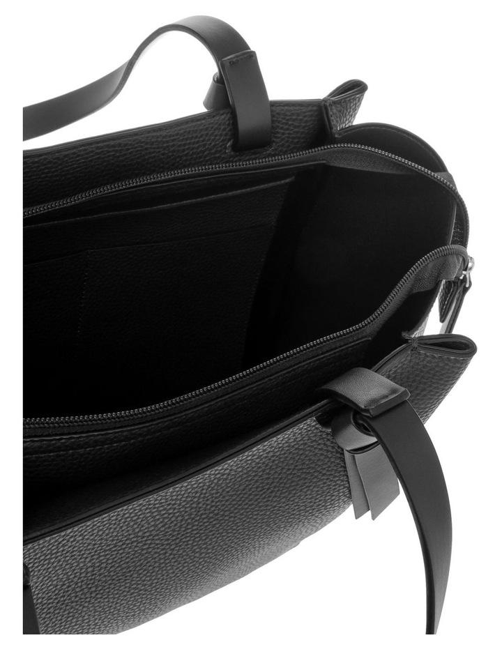 Christina Double-Handle Black Tote Bag image 4