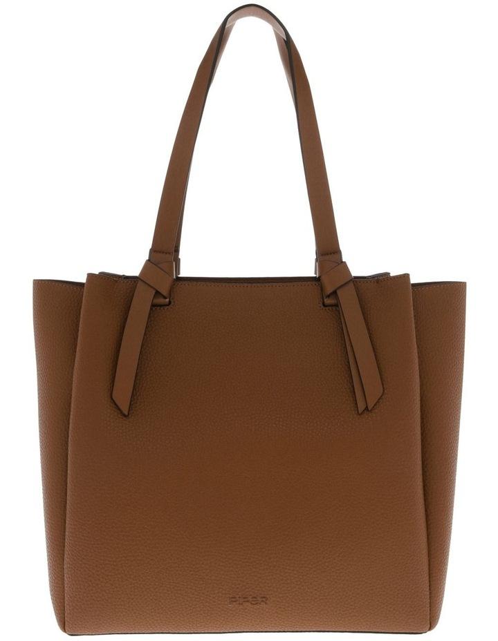 Christina Double-Handle Tan Tote Bag image 1