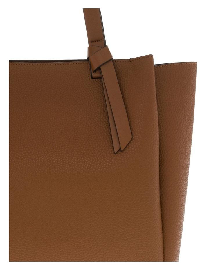 Christina Double-Handle Tan Tote Bag image 3