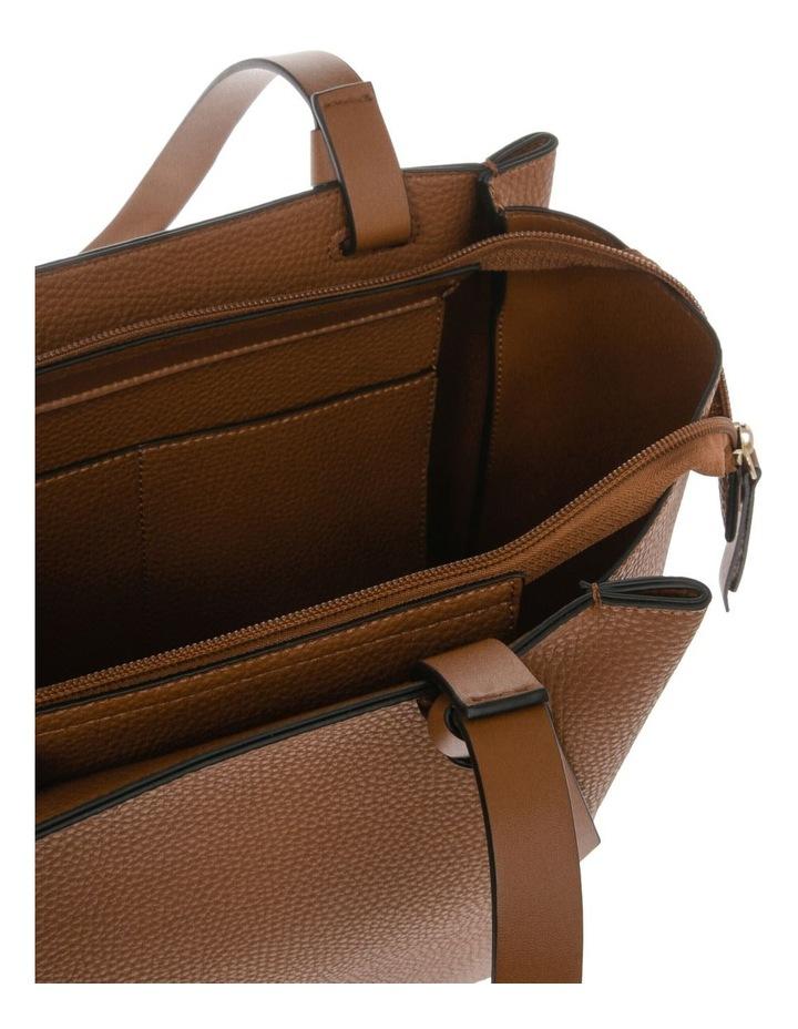 Christina Double-Handle Tan Tote Bag image 4
