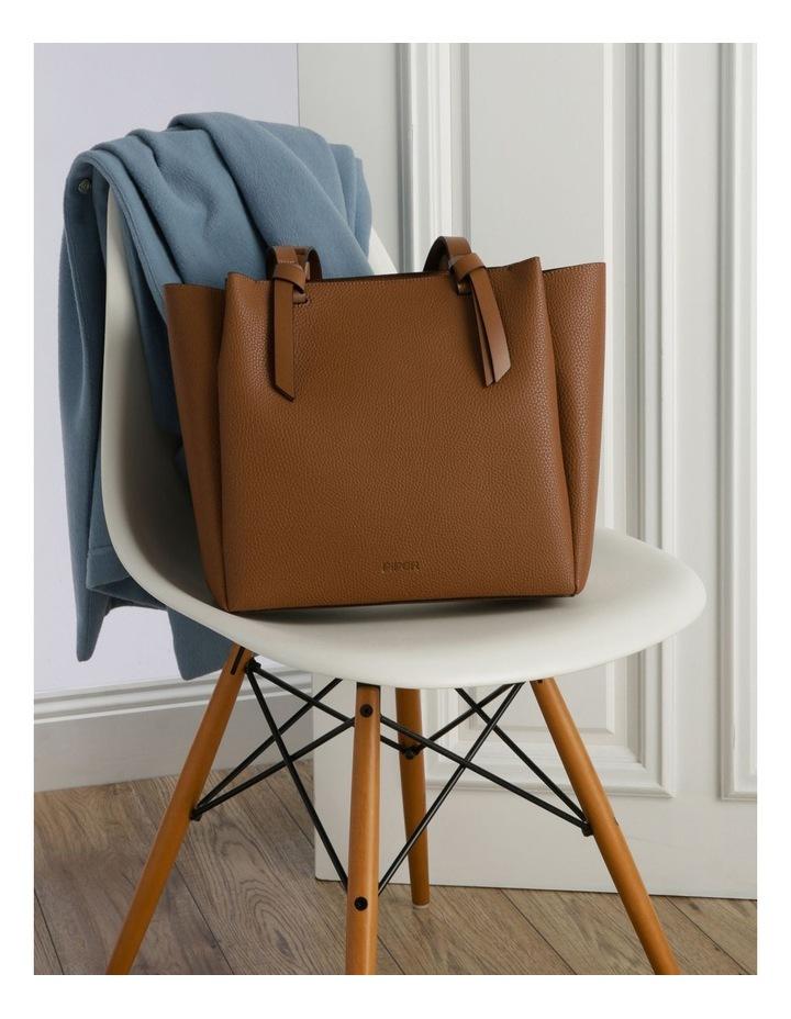 Christina Double-Handle Tan Tote Bag image 5
