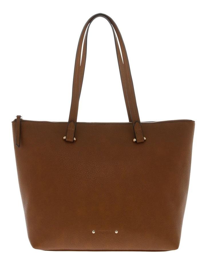 Lara Double Handle Tan Tote Bag image 1