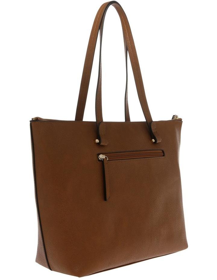 Lara Double Handle Tan Tote Bag image 2