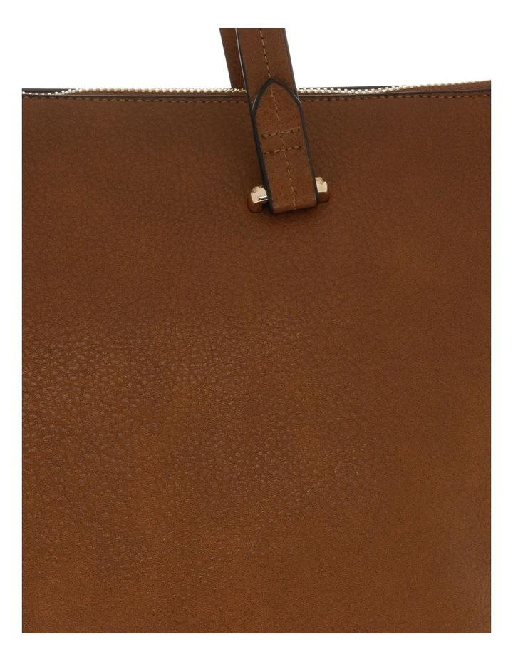 Lara Double Handle Tan Tote Bag image 3