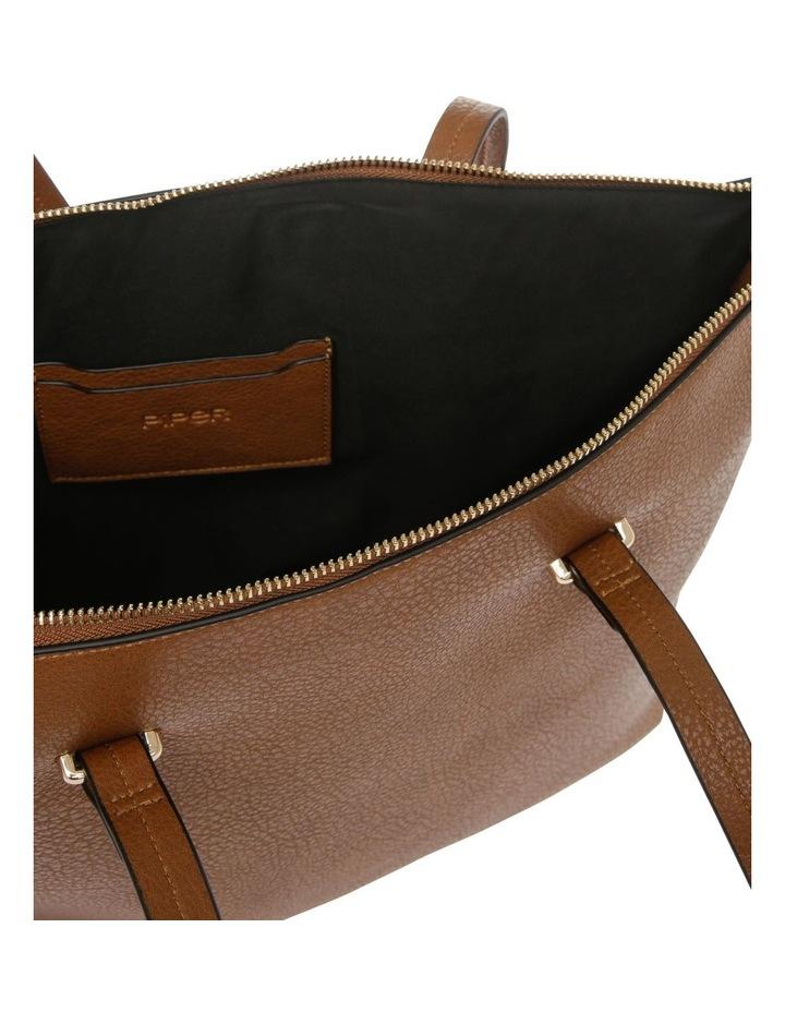 Lara Double Handle Tan Tote Bag image 4