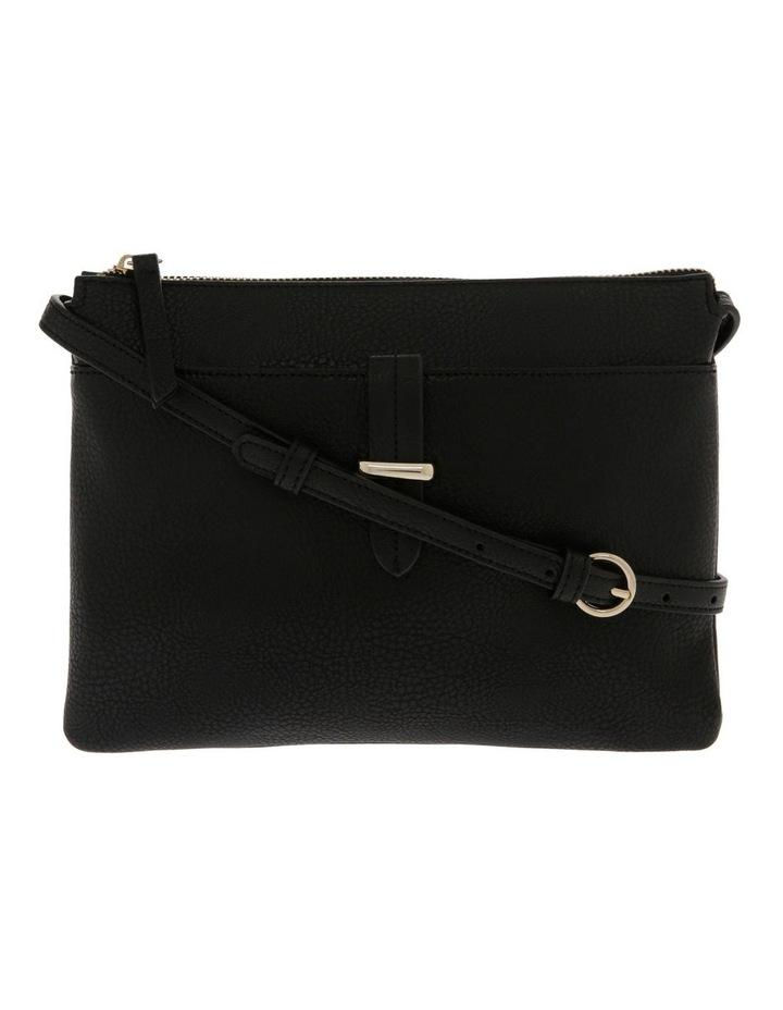 Lara Zip Top Black Crossbody Bag image 1