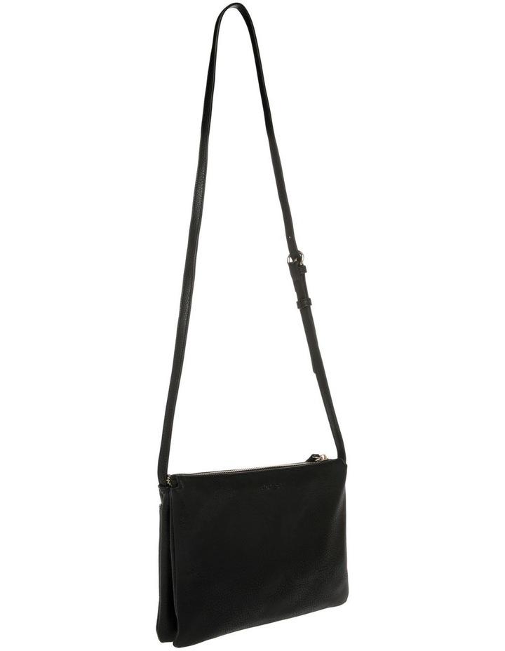 Lara Zip Top Black Crossbody Bag image 2