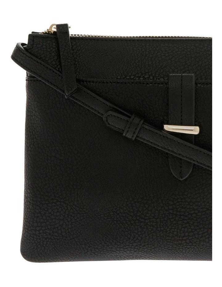 Lara Zip Top Black Crossbody Bag image 3