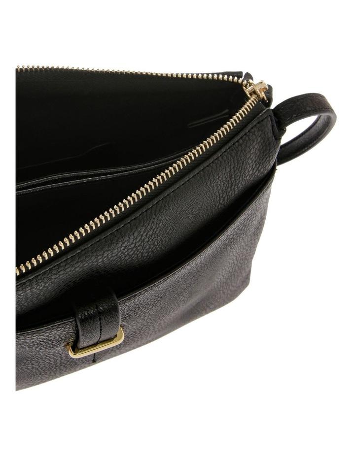 Lara Zip Top Black Crossbody Bag image 4