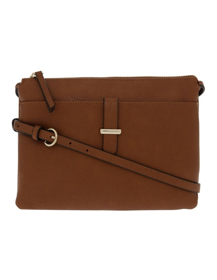 Lara Zip Top Tan Crossbody Bag image 1