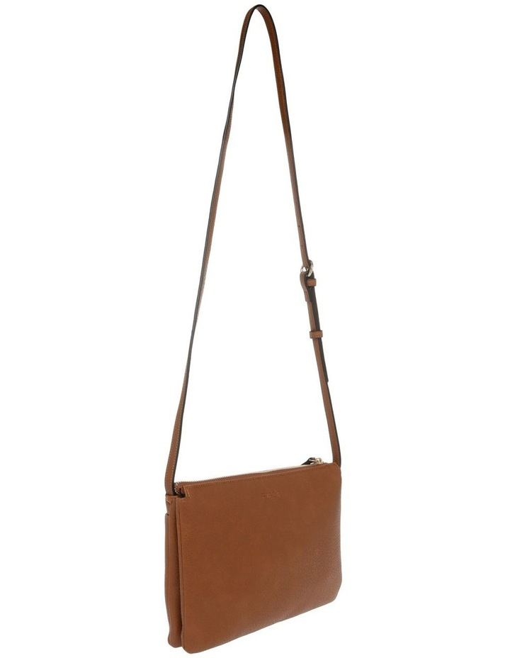 Lara Zip Top Tan Crossbody Bag image 2