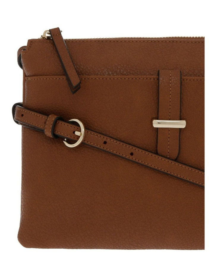 Lara Zip Top Tan Crossbody Bag image 3