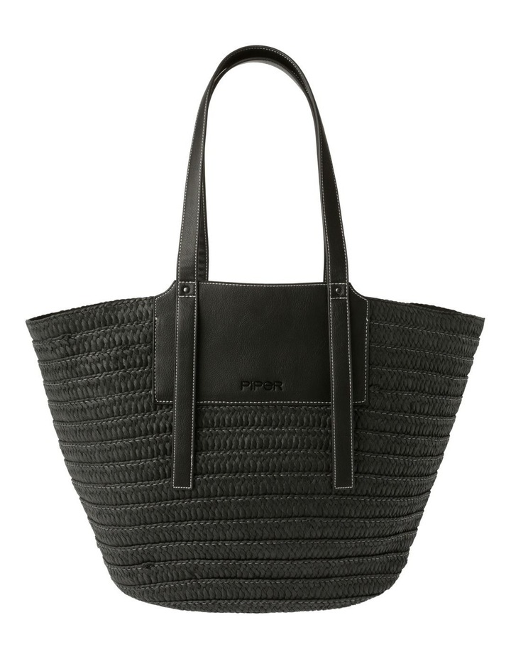 Portofino Straw Top Handle - Tote Bag image 1