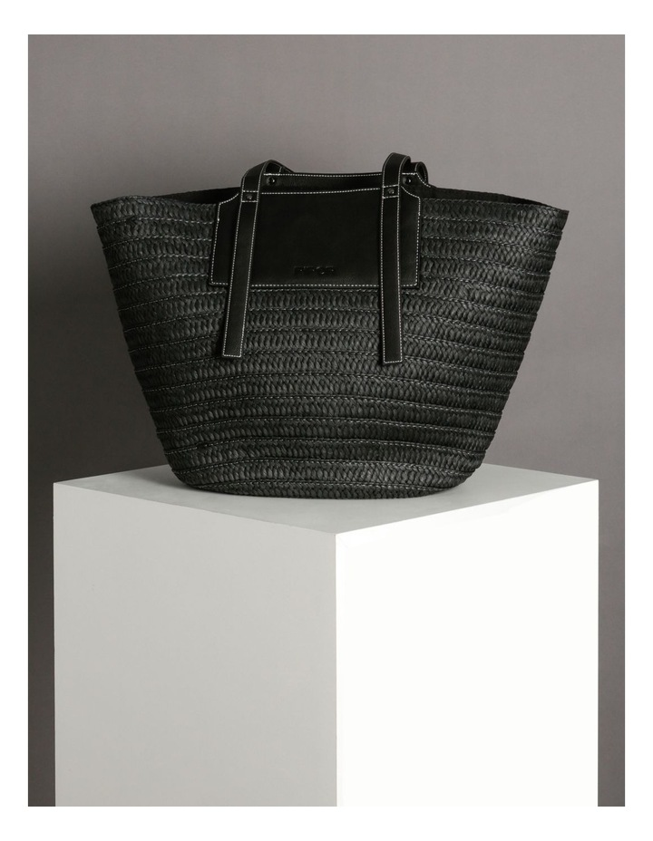 Portofino Straw Top Handle - Tote Bag image 5