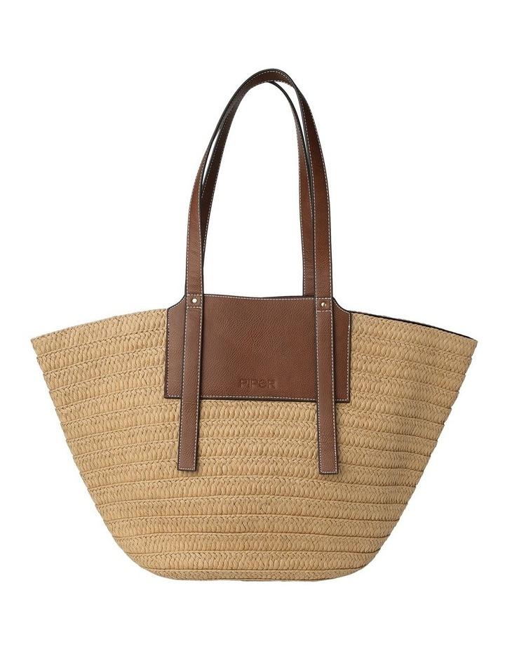 Portofino Straw Top Handle - Tote Bag image 1