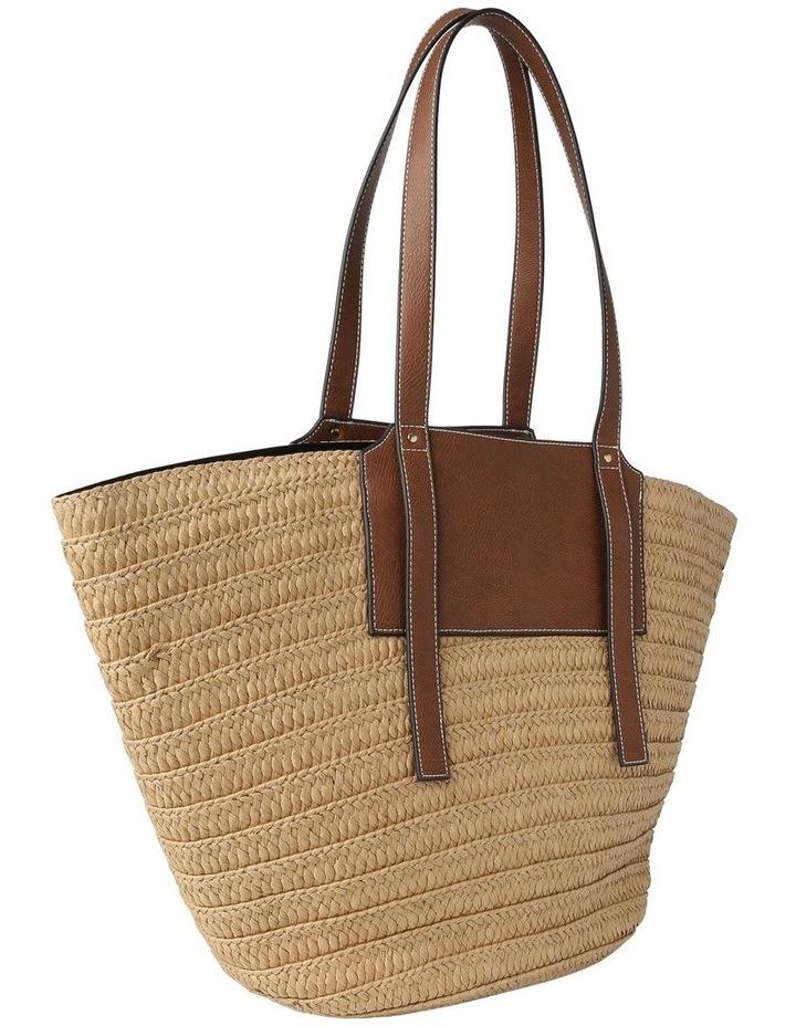 Portofino Straw Top Handle - Tote Bag image 2