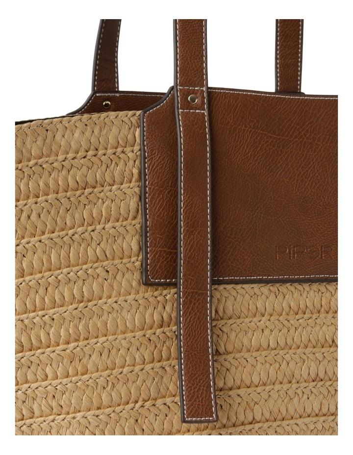 Portofino Straw Top Handle - Tote Bag image 3