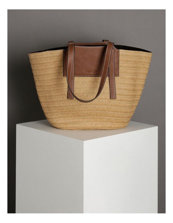 Portofino Straw Top Handle - Tote Bag image 5