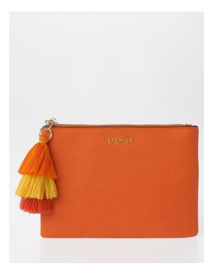 Ami Zip Top Pouch in Orange image 1