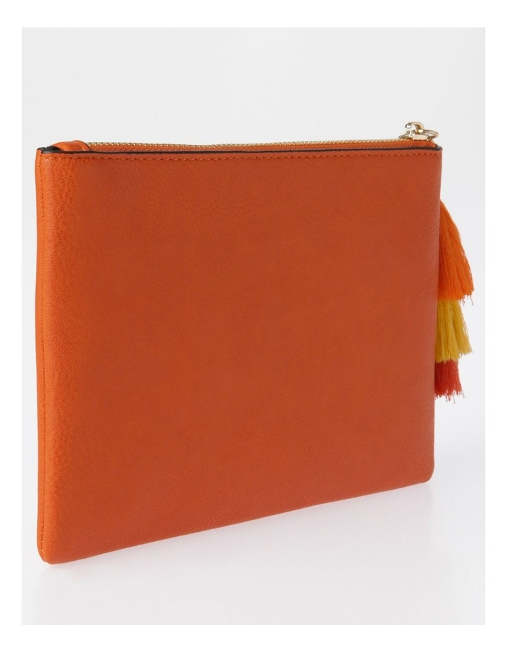 Ami Zip Top Pouch in Orange image 2