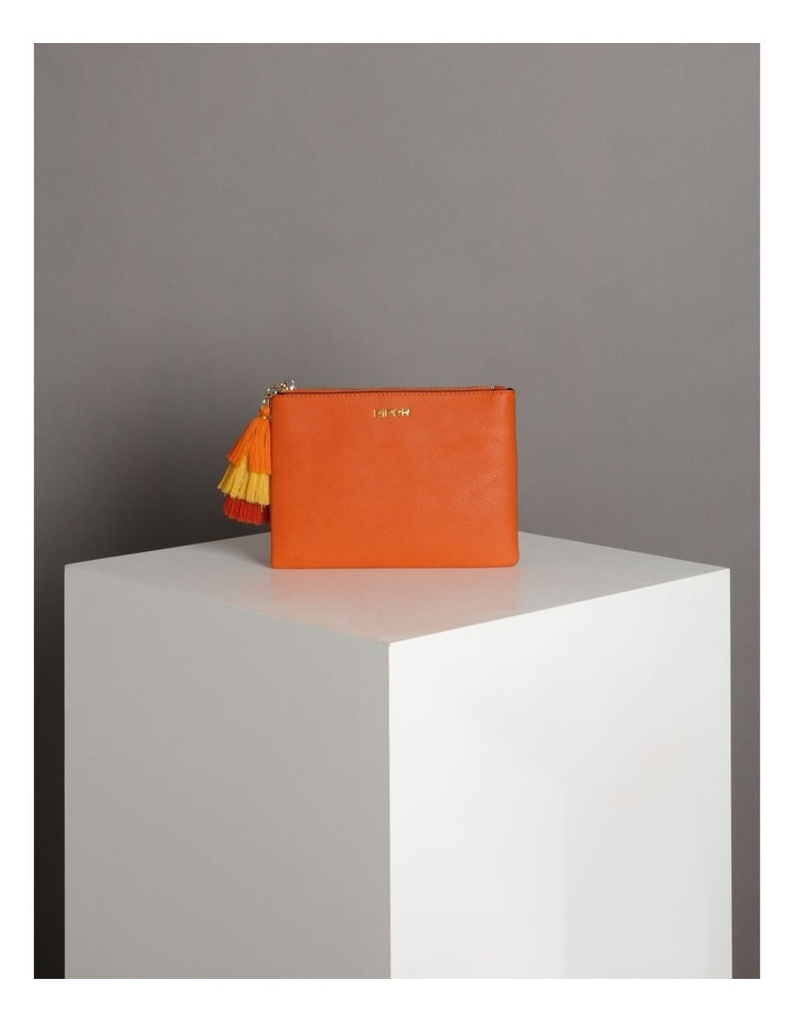 Ami Zip Top Pouch in Orange image 5