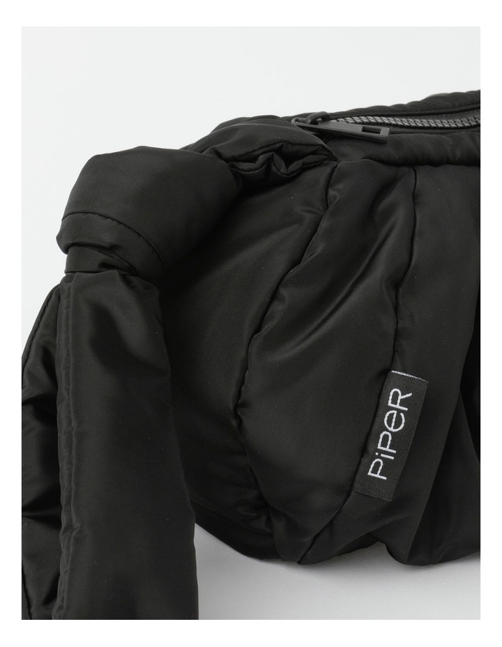 Puffer Zip Top Gathered Clutch image 2