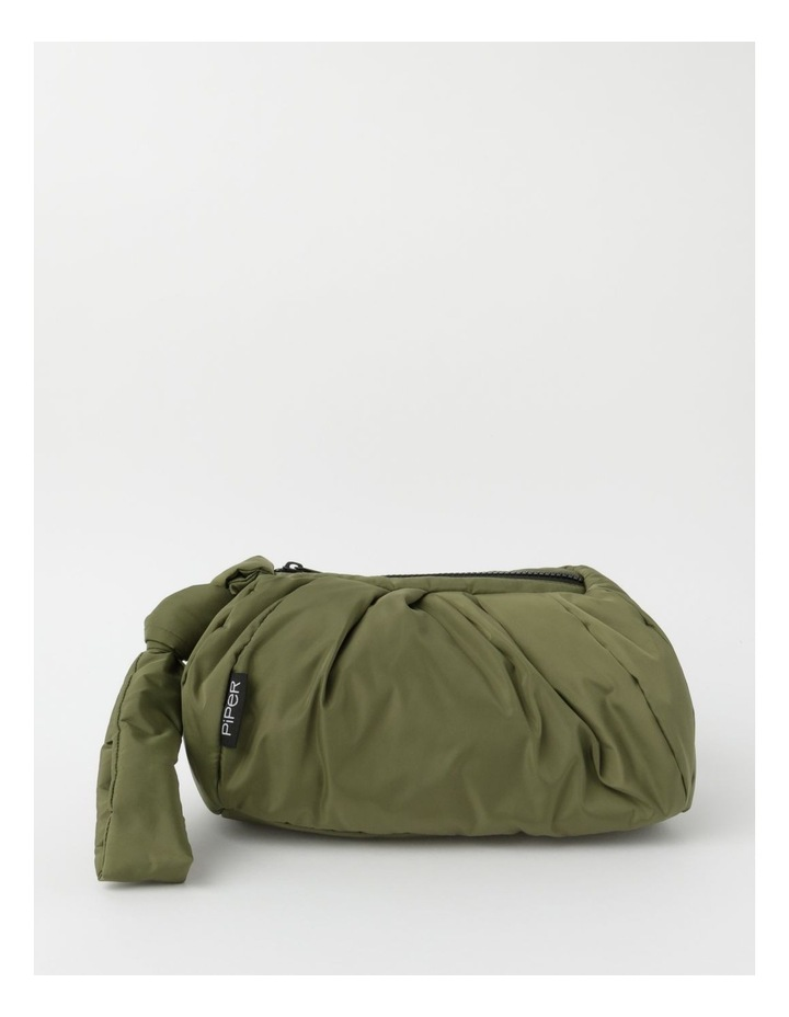 Puffer Zip Top Gathered Clutch image 1