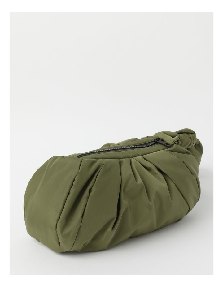 Puffer Zip Top Gathered Clutch image 3