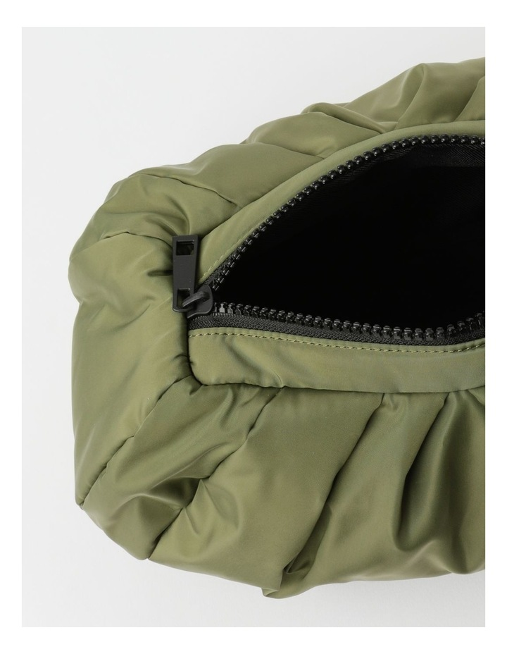 Puffer Zip Top Gathered Clutch image 4