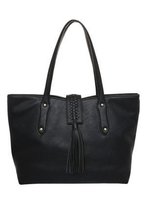 JAG - Weave & Tassel Double Handle Tote Bag JH-0026