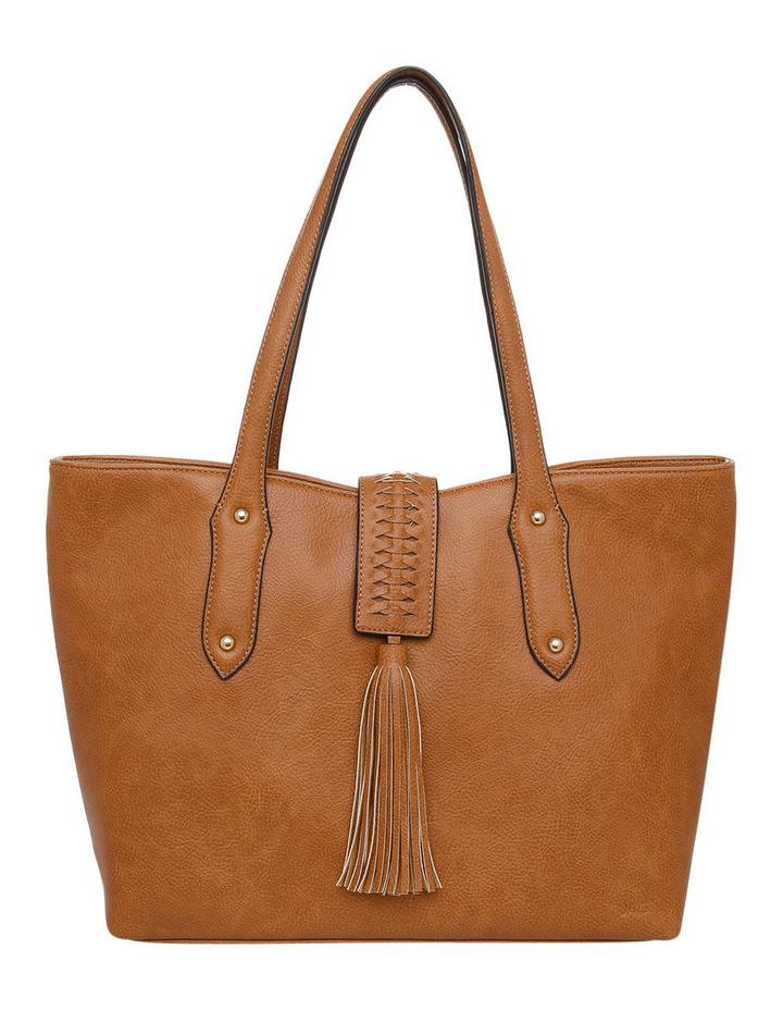 Weave   Tassel Double Handle Tote Bag image 1 8e1aa69198552