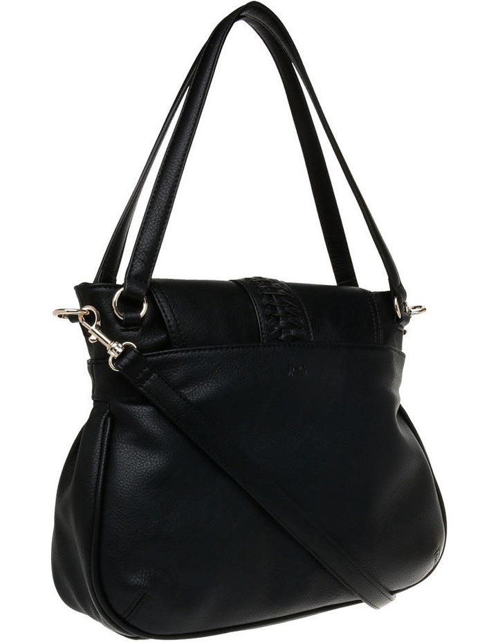 Weave & Tassel Flap Over Crossbody Bag image 2
